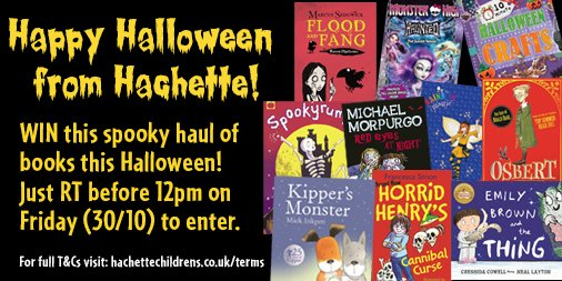 Happy #Halloween from Hachette! To #win our beastly book bundle just RT before Friday 12pm https://t.co/uLFcuC9uwA