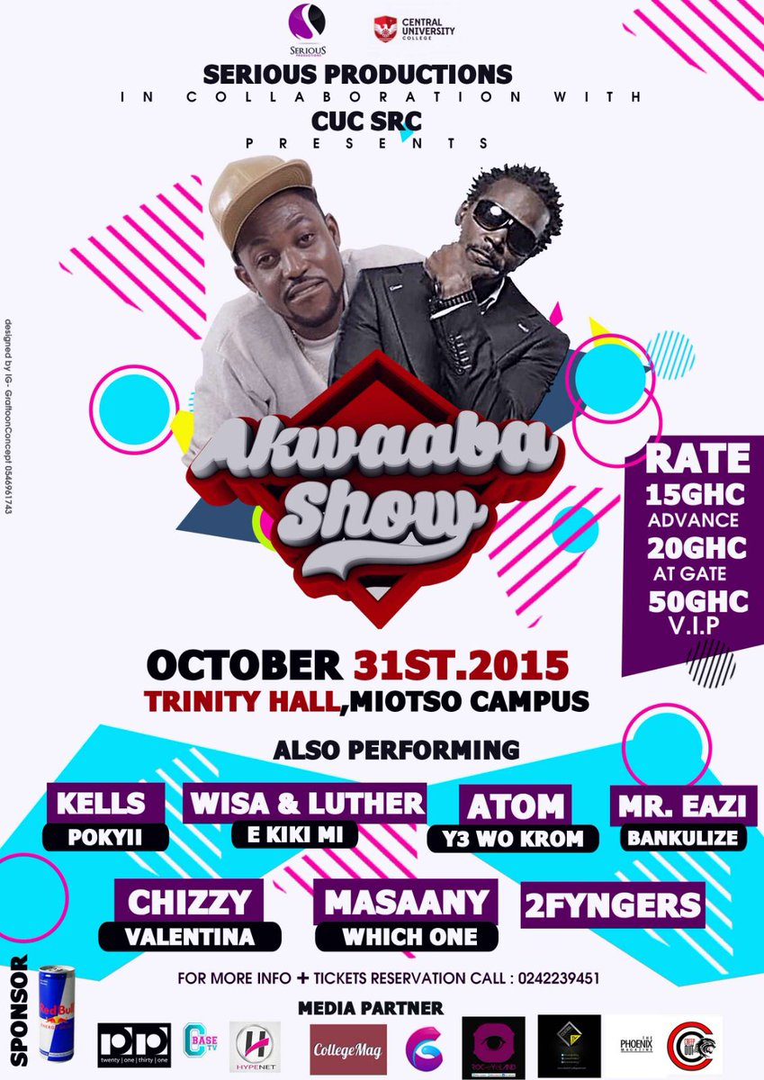 #cucakwaabanightshow you gotta be there 31st October