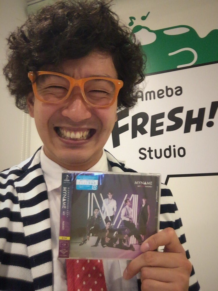 "MYNAME『MY BESTNAME』リリース記念特別番組のMCさせて頂いてきましたぁーー!!!✧٩(ˊωˋ*)و✧  終わってから、メンバーのみなさんに『MY BESTNAME』のアルバム頂いたぁーー!!!(◍˃̶ᗜ˂̶◍)ノ"" https://t.co/32dOgdcXoO"