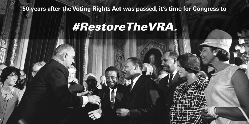 Now is the largest rollback of #votingrights in 50 yrs. What will it take for Congress to #RestoreTheVRA ? https://t.co/Zwz8H8sov1