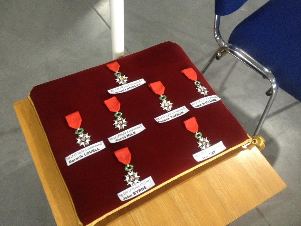 Preparing for presentations of 7 Legion D'honneur medals to #typhoon veterans. @GlosAirport @BBCBreaking https://t.co/ZAoMzmj8Ij