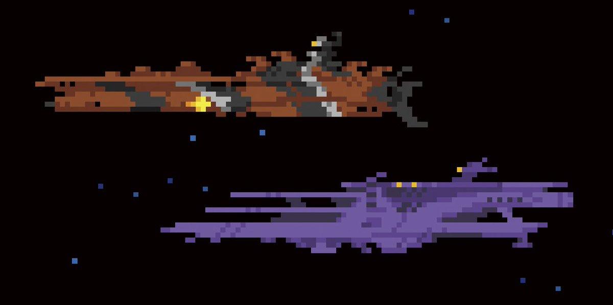 宇宙戦艦ヤマト2199ドット絵シリーズ②ミランガル&ランベア 1dot=5m scale#yamato2199 #ドット