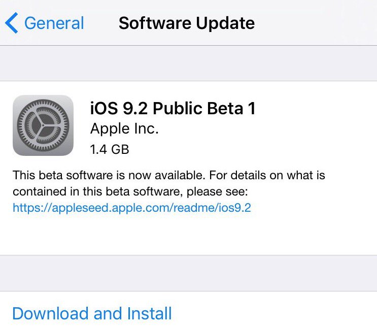 iOS 9.2 public beta 1 is out https://t.co/HSm500cBjC https://t.co/3oiYiGvR1s