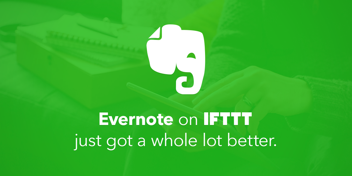 New ways to use @Evernote on IFTTT! Now you can trigger Recipes right from your notes https://t.co/tXShXHbyyn https://t.co/60D8lP3Pfz