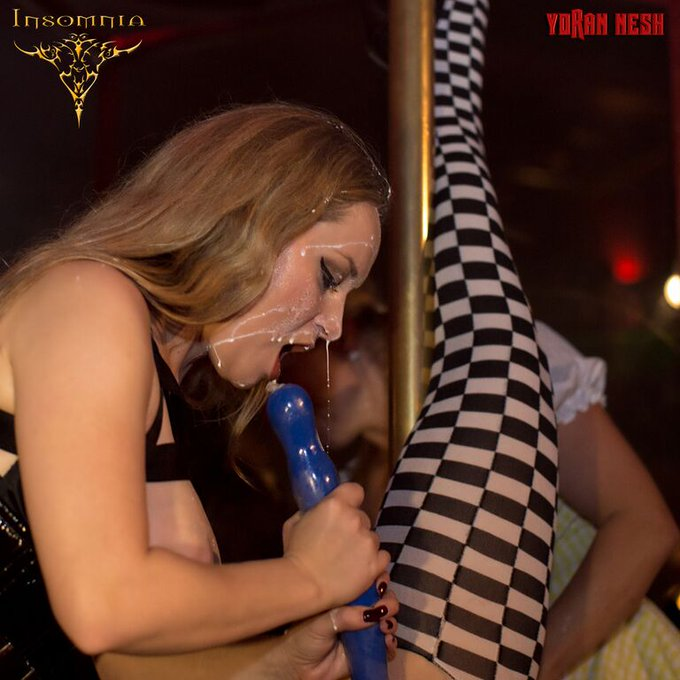 1 pic. #TBT @AidenStarr getting slippery with some breast milk at Insomnia for Venus Bizarre weekend