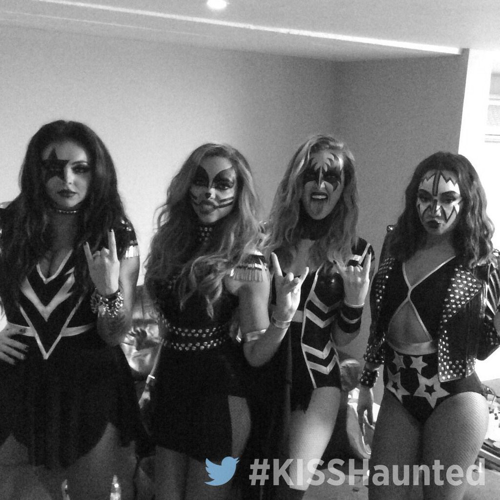 So @littlemix turned up to the #KISSHaunted House Party as KISS! Amazing!!