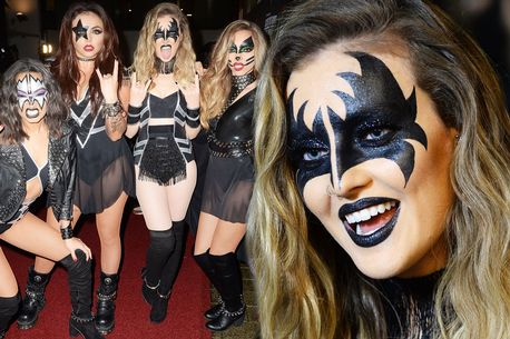Perrie Edwards & her @LittleMix  bandmates let their hair down & rock out as rockers #KISS. https://t.co/fHr6Oq5lV0 https://t.co/RPhQTieuht
