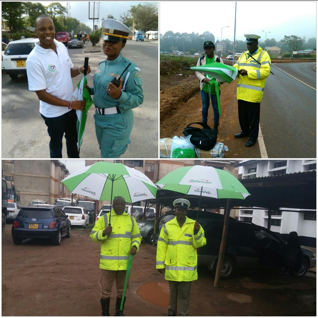 For #SafaricomAt15 we're giving out 6,000 umbrellas to our traffic policemen around the country ahead of El Niño https://t.co/7M61JxFKF8