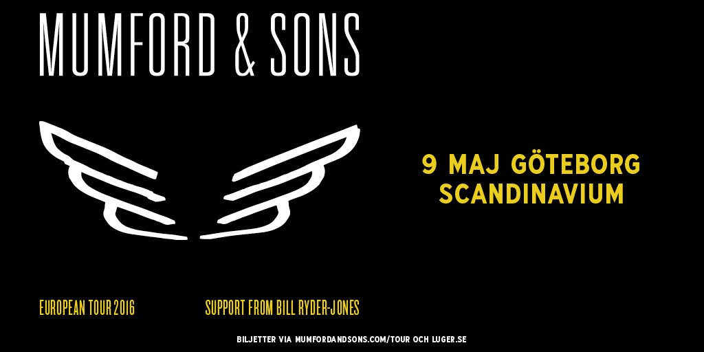 BIG NEWS! @MumfordAndSons till Sverige för en exklusiv spelning. Biljettsläpp tis 3/11 kl 10.00. #mumfordandsons https://t.co/tIRrPC2HNh