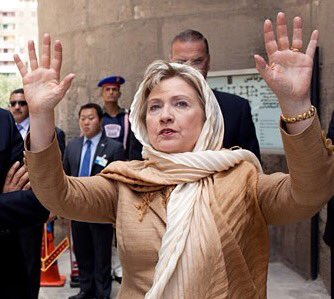 Image result for hillary in hijab