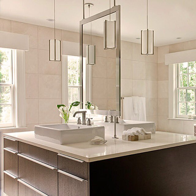Pendant lights can be a fabulous addition to your bathroom, adding instant drama. (Just be sure they're up to code!) https://t.co/1mPtL1sGGW