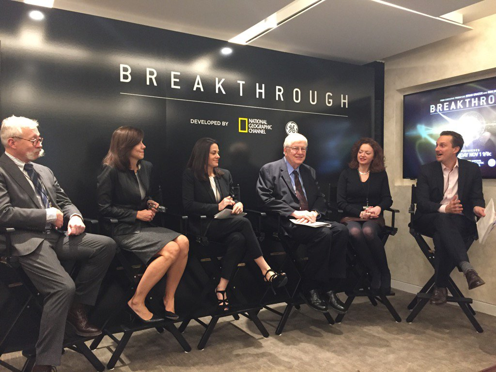 EIC @Cliff_Ransom moderating the @NatGeoChannel @generalelectric #breakthrough NYC media panel https://t.co/0cRpOlcfy8