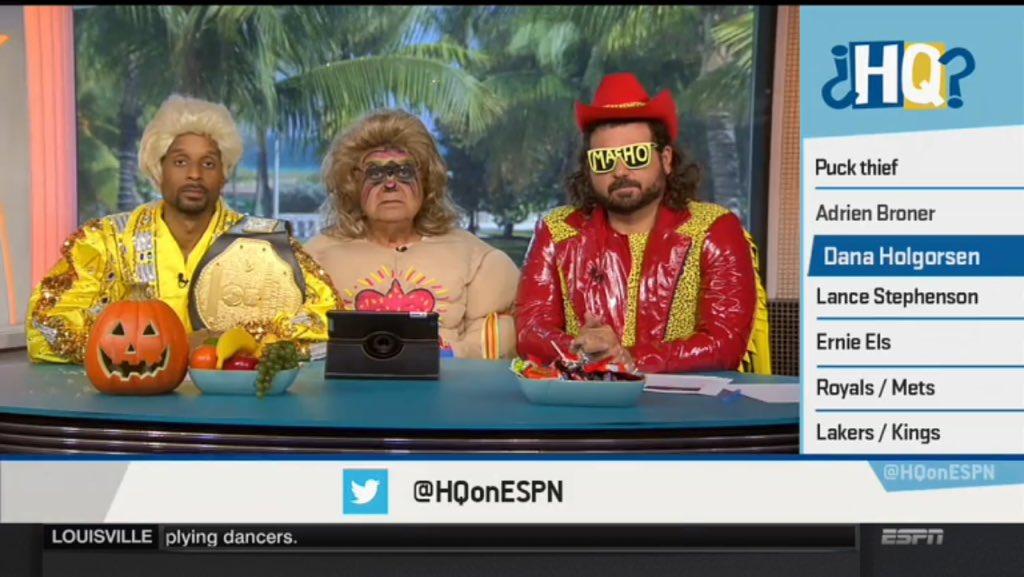 HQ crew going old school wrestling, Ric Flairin' https://t.co/kFU5NAWSkD