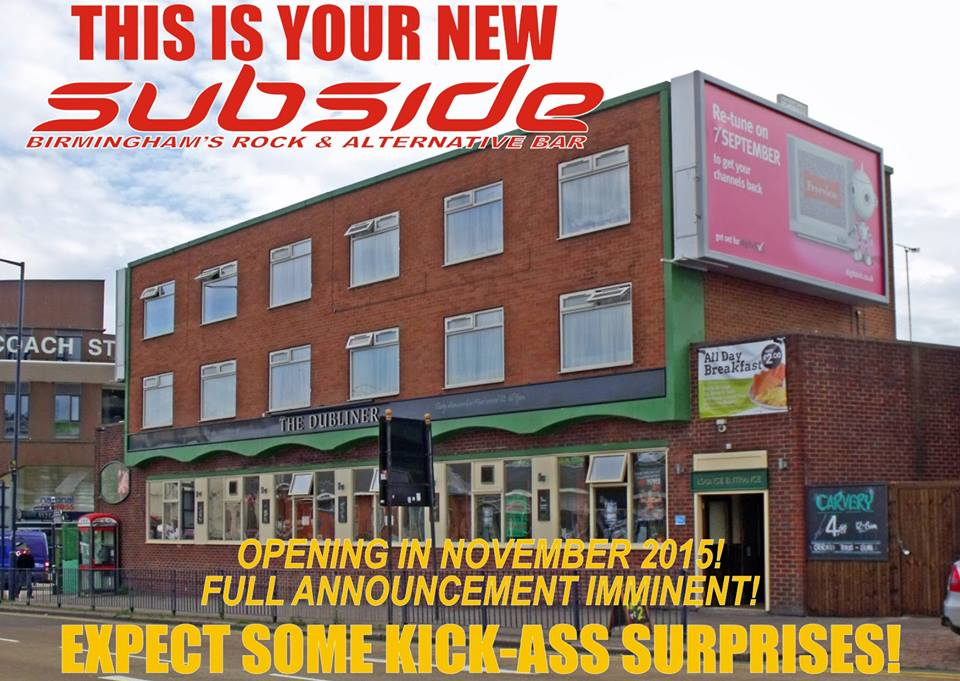 #digbeth's The Dubliner to become Subside (rock bar) https://t.co/6zLZsN1zAr