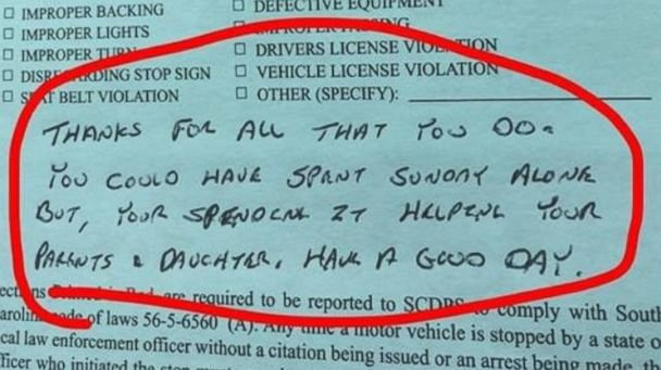 Cop issues thank you letter to mom instead of speeding ticket cop issues thank you letter to mom instead of speeding ticket thanks for all that you do scoopnest expocarfo Image collections