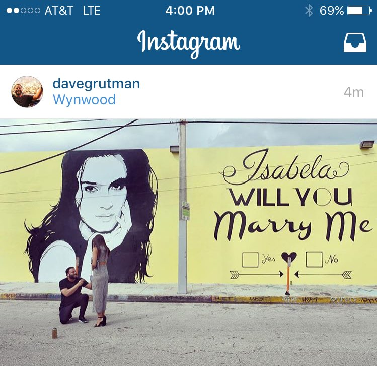 Baller marriage proposal from @DaveGrutman: a Wynwood mural https://t.co/la5Jrz0CZC https://t.co/yfuJOQJoTZ