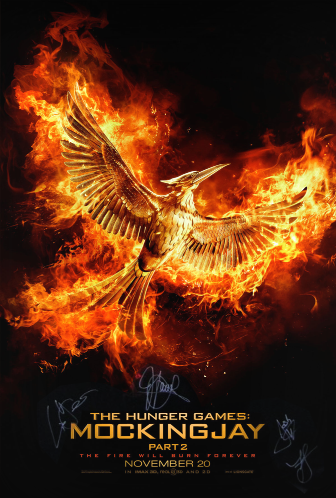 Want to win this cast SIGNED poster? Reply with your favorite moment from @TheHungerGames! #THGWatchParty https://t.co/UJ85g8eLrP