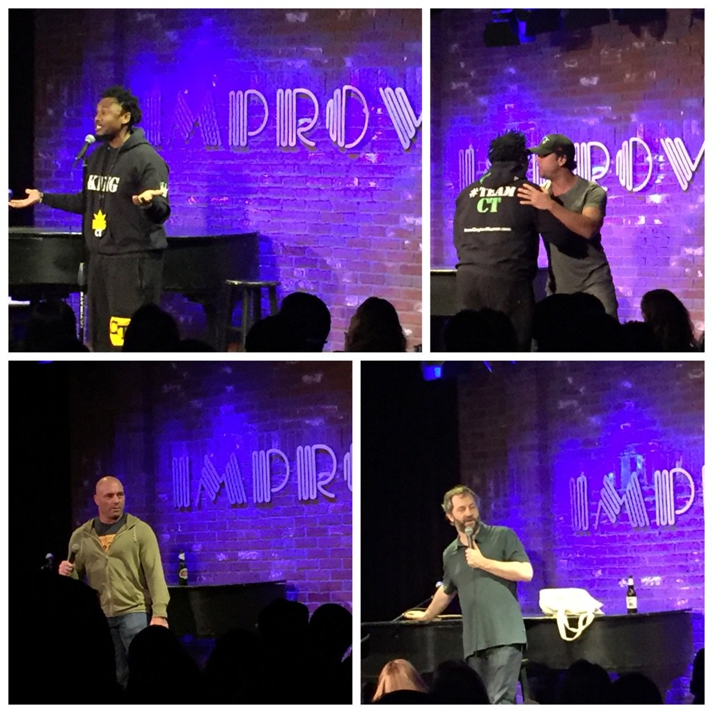 watchin my @ibClaytonThomas host a sold-out @HollywoodImprov show 4 #ComedyJuice w @DaneCook @JoeRogan @JuddApatow https://t.co/ZeZ87VoGUm