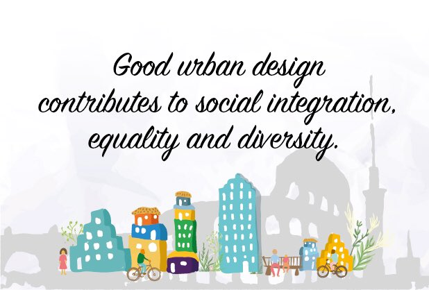 Good urban design gives space for different cultures, ethnicities, lifestyles to mix, come together! #CitiesDay https://t.co/Lh01Y7woCZ