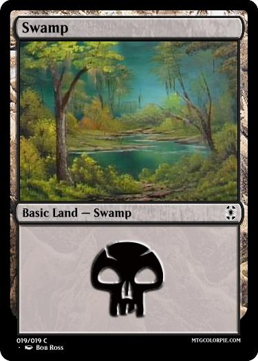 Bob Ross finished painting a swamp. I would love to see Bob Ross Basic Land. https://t.co/251If0cnrG