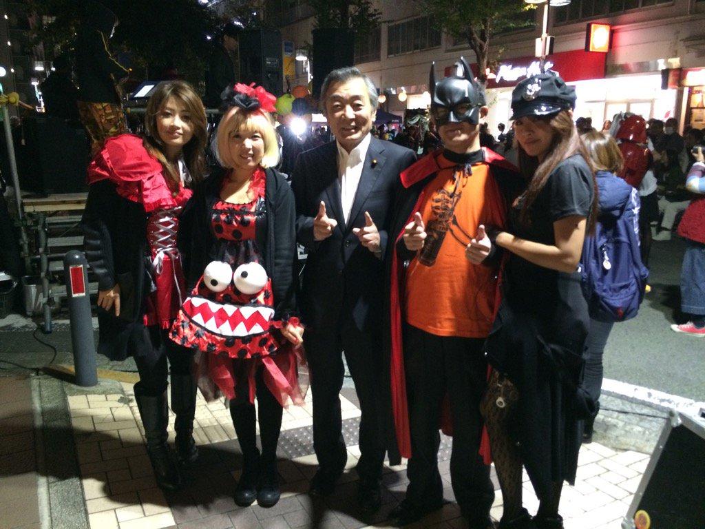 横浜市中区吉田町はハロウィンでごった返しています。久しぶりに会ったお友達とご挨拶。 https://t.co/bC8J9KwY3z