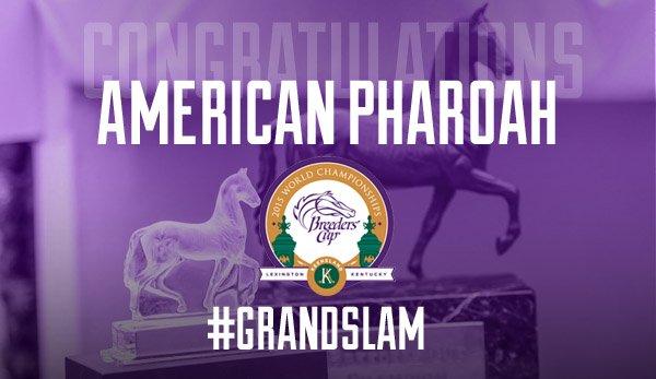 Congratulations, American Pharoah, #BC15 @Keeneland Classic champion! #GrandSlam https://t.co/kanq4GDdV9