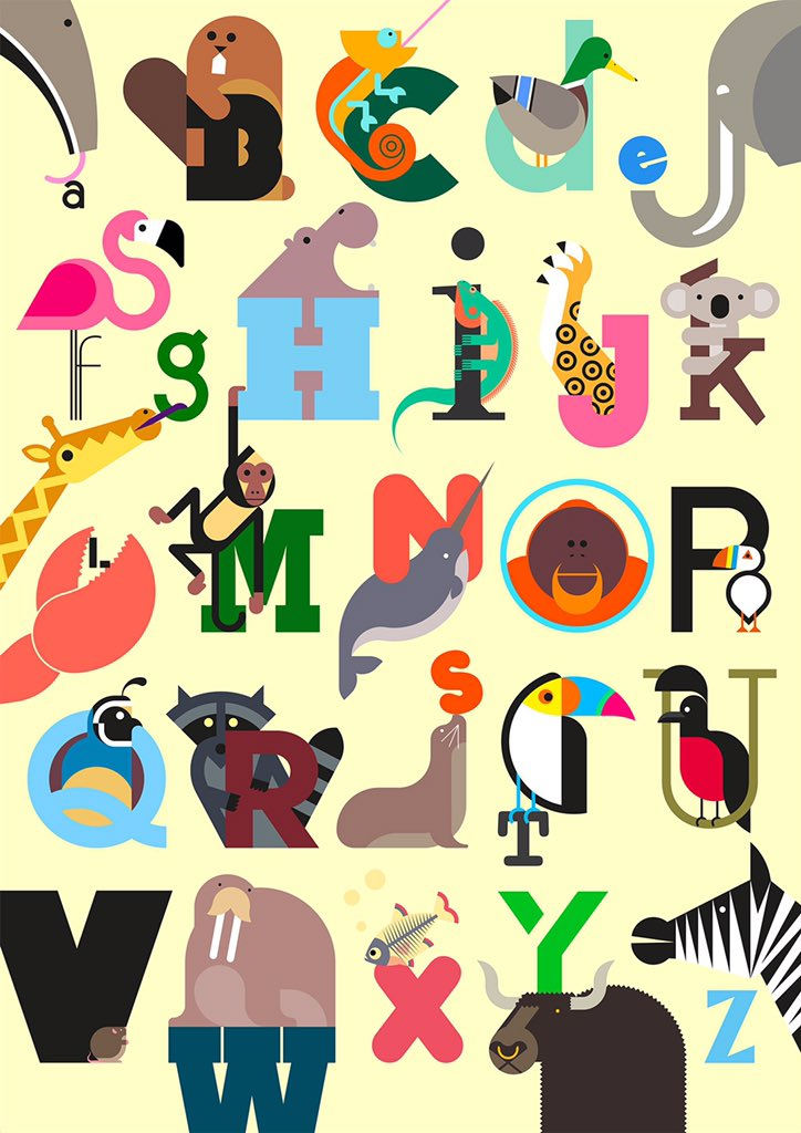 @DesignMuseum @louisamqn — @wearebuild / @Build_Shop Animal A-Z by Build #FontSunday https://t.co/HtTjGij70R
