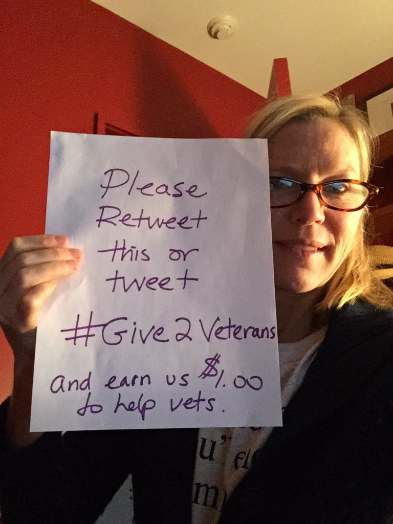 You got an extra hour so please retweet this & earn $1.00 for veterans #give2veterans @Stand4Heroes @lovethegive https://t.co/iPWUIRvxC1