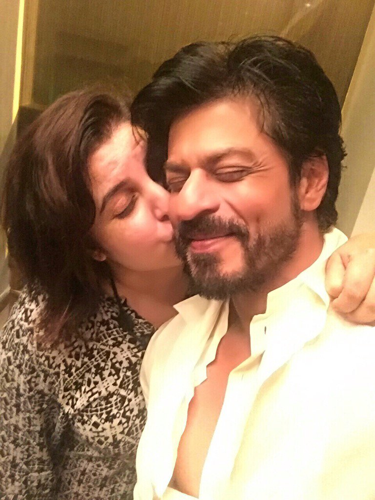 Happy 50th to my darling @iamsrk .. 50 yrs of combined friendship, millions of happy memories n many more to come