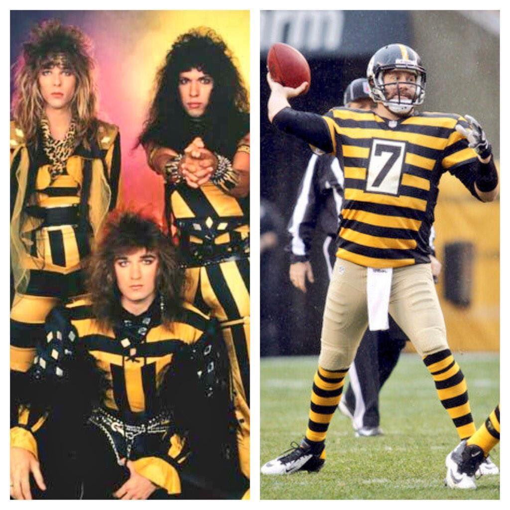 Great to see @steelers paying tribute to @Stryper today, must be in honor of their new album Fallen! @michaelhsweet https://t.co/4GOJfujtyB