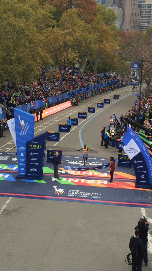 Your #TCSNYCMarathon champion, Stanley Biwott, in a time of 2:10:34!! https://t.co/DMjROxIMJp