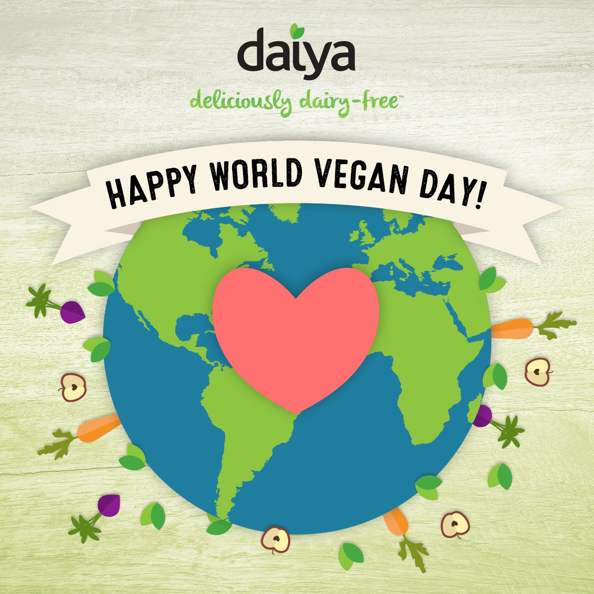 Happy #WorldVeganDay, everyone! https://t.co/5vAItdLuo9