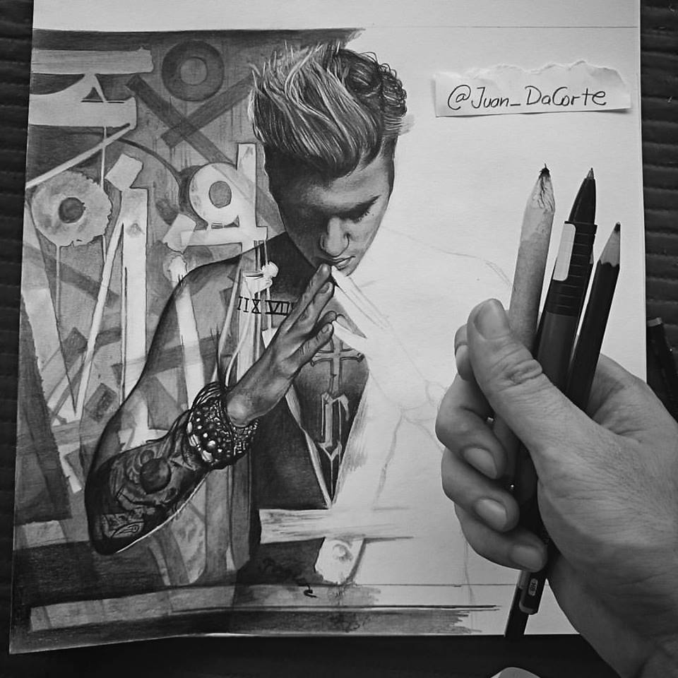 1/2 done! drawing #Purpose by @justinbieber #wip this 1 it's going to take more than what i thought