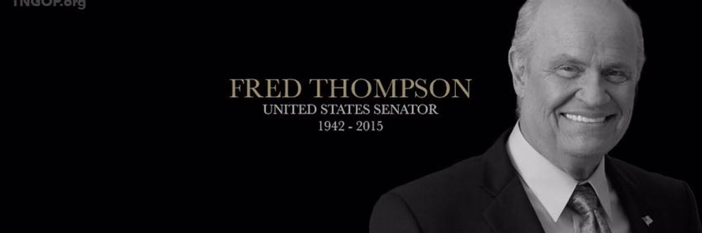 We've lost a larger-than-life figure with the passing of Sen. Fred Thompson. A true statesman. #TNGOP #FredThompson https://t.co/LAKHLqBhsF