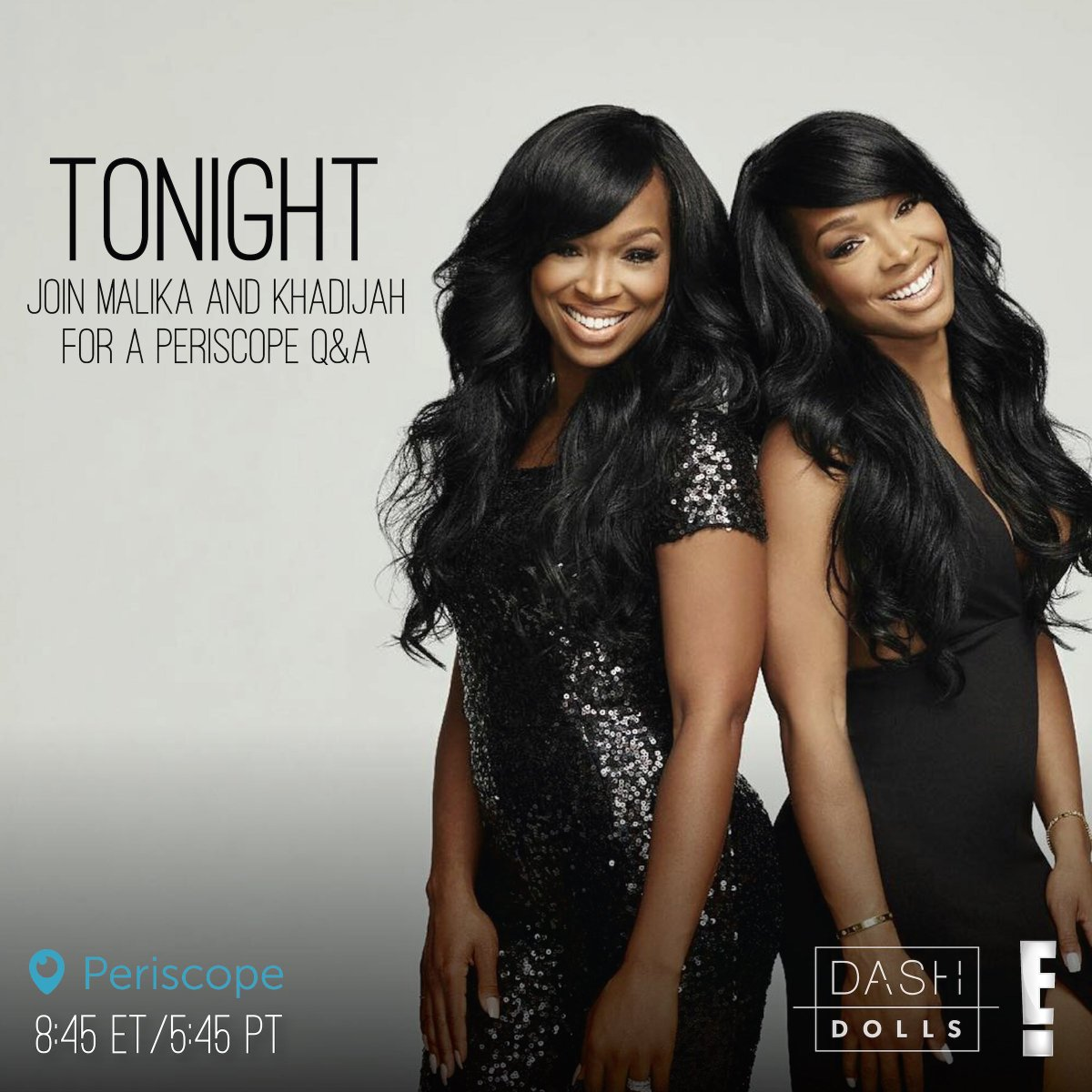 RT @DashDolls: RT if you'll be tuning in to the LIVE @DashDolls #Periscope with Malika & Khadijah tonight! https://t.co/qUO05aFkOT https://…