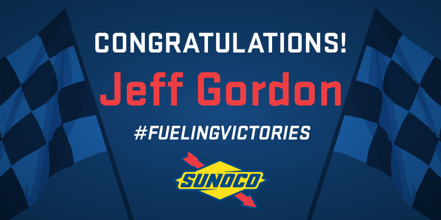 Welcome back to Victory Lane, Jeff Gordon!