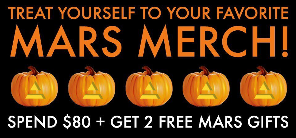 RT @MARSStore: FINAL HOURS for 2 FREE GIFTS. Don't let this treat pass you by! Shop now thru 11:59 PM PT: https://t.co/gcF2eDN7LK https://t…