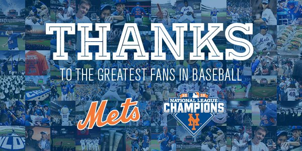 Thank you fans for the Amazin' support all season long. You are truly the best fans. #2016 #UnfinishedBusiness https://t.co/8LrQz6zhm4