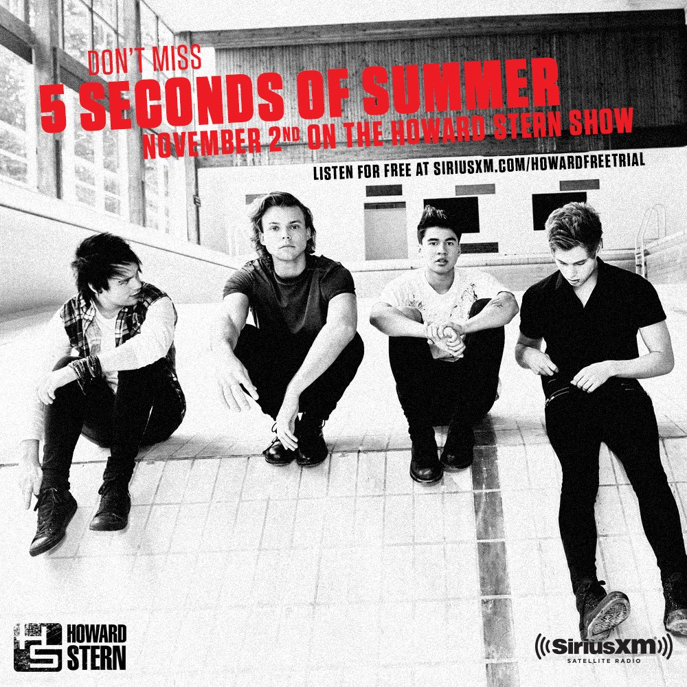Hey Now! We're LIVE with @5SOS and our legendary announcer @GeorgeTakei! #Howard #5SOSonSTERN https://t.co/0xhe44mGGA