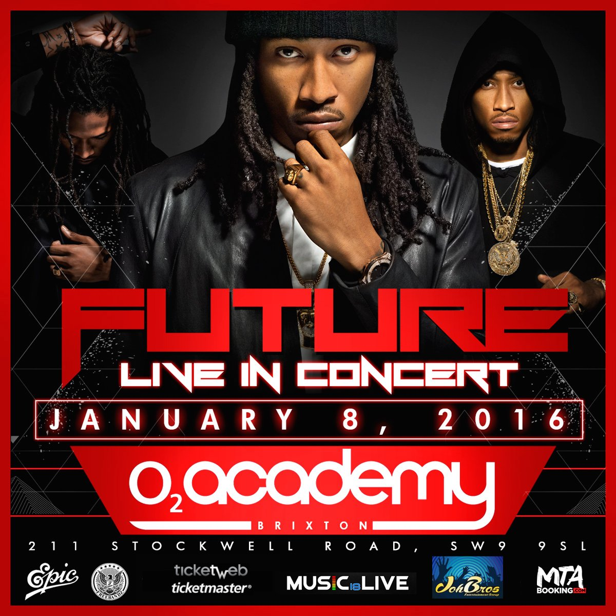 FUTURE ANNOUNCES 2 EUROPEAN CONCERTS: JAN 8 IN LONDON AND JAN 9 IN AMSTERDAM TIX AVAIL NOV 6 https://t.co/HgmwtgV0dV https://t.co/0YFCvBIZK9