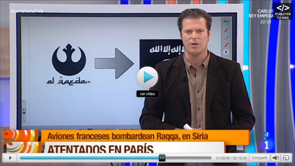 """Cuando @matthewbennett dijo que usaban el logo de """"star wars rebel alliance"""" como Alqaeda en TVE no me lo creía pero https://t.co/bcYhIWG6mV"""