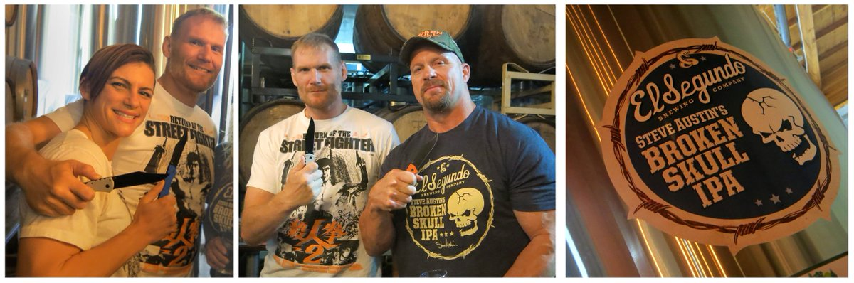 This is what I imagine Valhalla is like! Drinking BROKEN SKULL with @JoshLBarnett @ColleenFights and @steveaustinBSR https://t.co/5XungmUcEC