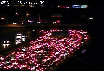 Here's a shot of the parked traffic on WB 94 at Broadway due to the protest. https://t.co/U6XeFvtbto