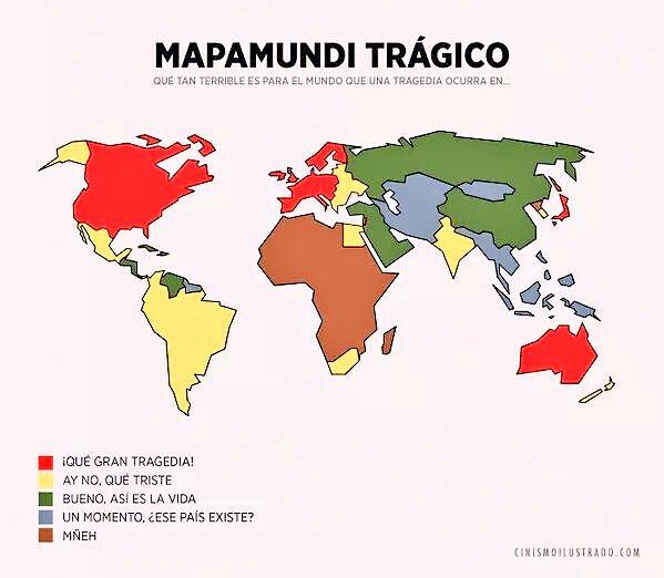 Es evidente que en el mundo hay muertos de primera y muertos de segunda, incluso de tercera y cuarta.  #PrayForWorld https://t.co/gIO9zkVagQ