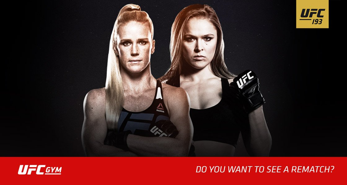 Should Ronda & Holly rematch? Vote now & get FREE pass to train like a champ @UFCGYM https://t.co/jdWSyNIgpF #UFC193 https://t.co/DPHUZfZveY