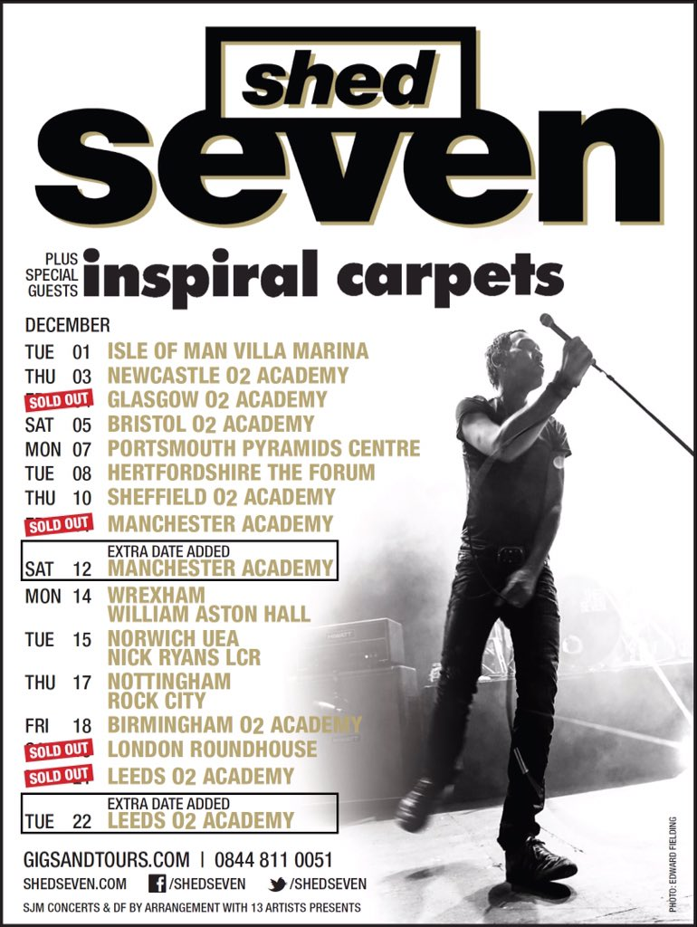 In 2 weeks time we kick off our tour with @shedseven on the Isle of Man. Who's coming? #CoolAs https://t.co/KJkikohbUI