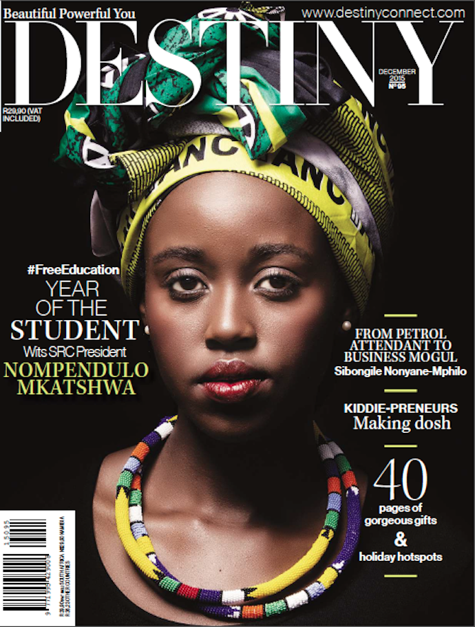 #DecemberCoverReveal Wits #FeesMustFall Mbokodo  Nompendulo Mkatshwa is on the cover of DESTINY - on sale Monday! https://t.co/TT6aAwAbfY