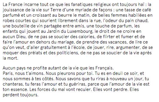 La déclaration d'amour à la France d'un anonyme sur le New York Times https://t.co/z1NELG5M7A https://t.co/HrApczx8xP