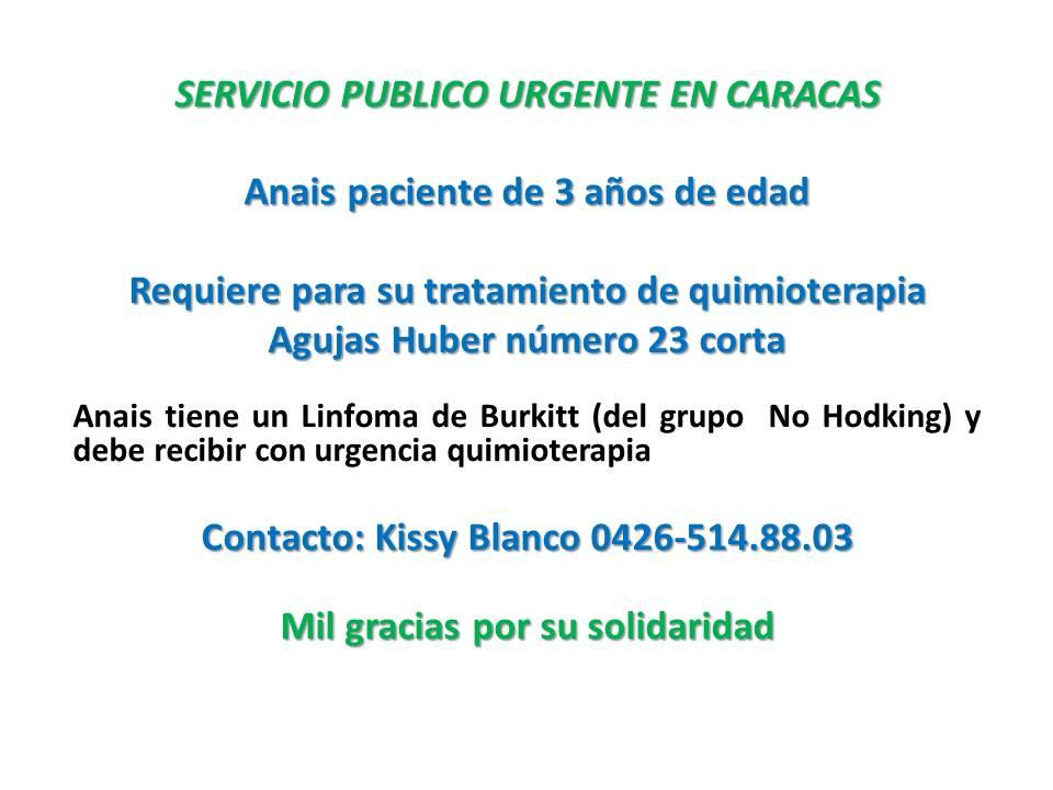 #ServicioPublico para recibir Quimio, Niña de 3 años necesita #Urgente Agujas Huber número 23 #Caracas https://t.co/zX1di2kS3Z