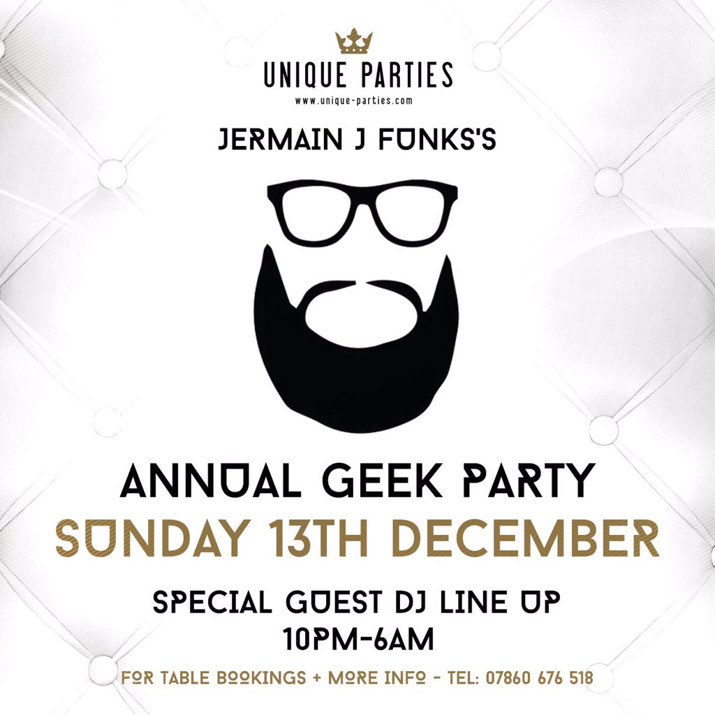 Birthday tomorrow but as ever celebrating with Annual Geek party - Dec 13th @WeAreLibertine #Geek #Sunday13th https://t.co/2e6a3Uc4Yu